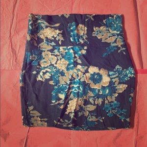 Floral bodycon mini-skirt